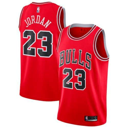 Zhao Xuan Trade Jersey Bulls Masculino Campeón de la NBA Vintage Michael Jordan Jersey Chicago Bulls # 23 Jersey de Baloncesto Swingman de Malla (Rojo, XXL)