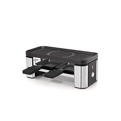 WMF 0415100011 Kitchen Minis 61.3024.5385 Küchenminis Raclette Grill mit Pfännchen, matt/silber