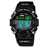 Watch for Boys Age 5-12, SOKY Xmas Gifts for 5-12 Year Old Boys Girls Teens Digital Watch Boys Sports Waterproof Watches With Alarm Wrist Watches for Boy Girls Children Stocking Stuffers Black SKUSKW2