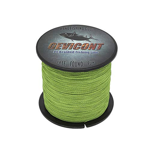 GEVICONT Braided Fishing Line 6lb-100lb Abrasion Resistant Braid Line Strong High Cost Performance...