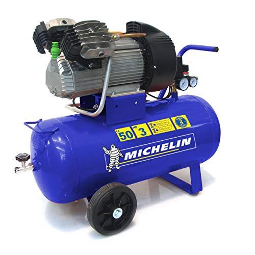 MICHELIN Compresseur d'Air Portatif MVX50/3 - Cuve 50 Litres - Moteur 3 cv - Pression Maximale 10 bar - Débit d'Air 360 l/min - 21.6 m³/h