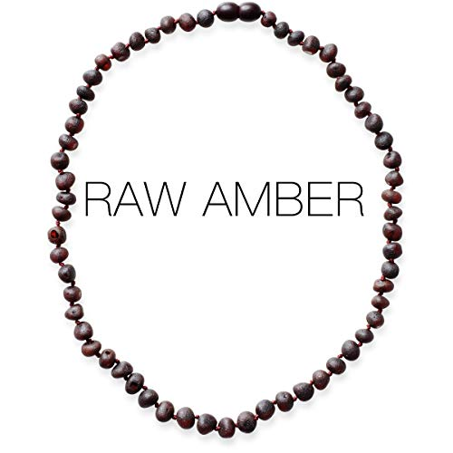 Meraki Adult Baltic Amber Necklace - Raw Unpolished Baroque...
