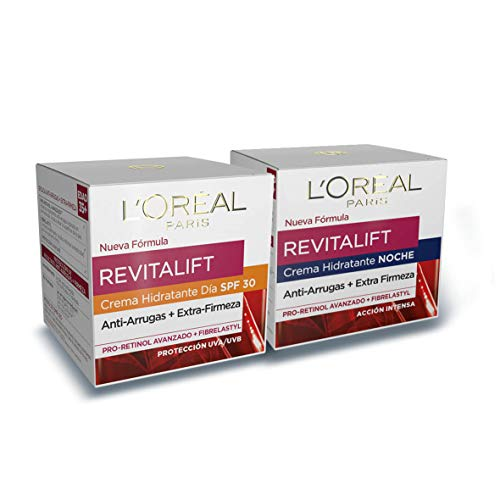 L'Oréal Paris Revitalift Set de Crema de Día Anti-Edad con Protección Solar SPF 30 y...