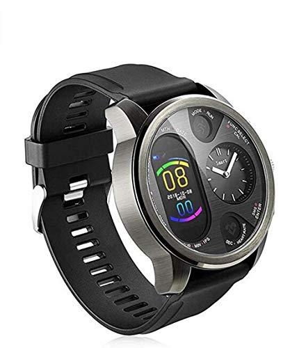 Dual Time Smartwatch Herren - Hybrid Smartwatch Herzfrequenz Blutdruckmessgerät Activity Fitness Tracker iOS Android Bluetooth Wasserdicht Schlafüberwachung Kaloriensport Smartwatch für Herren