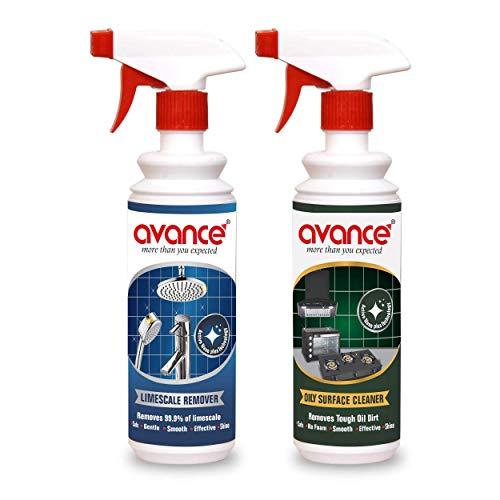 Avance Kitchen De-Greaser & Steel Tap limescale Remover (Combo Each 500ml)