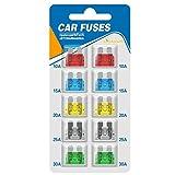 ACT Lot de 10 fusibles standard pour voiture 10 A 15 A 20 A 25 A 30 A