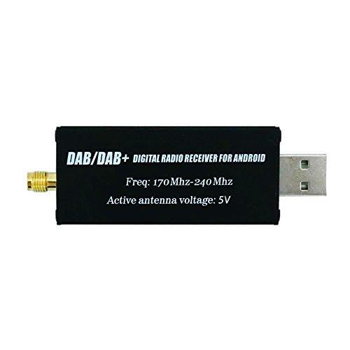 DAB/DAB + USB Adattatore, XISEDO DAB Dongle in Macchina DAB Ricevitore Radio Digitale DAB USB 2.0 Stick con DAB Antenna Auto per Android Autoradio