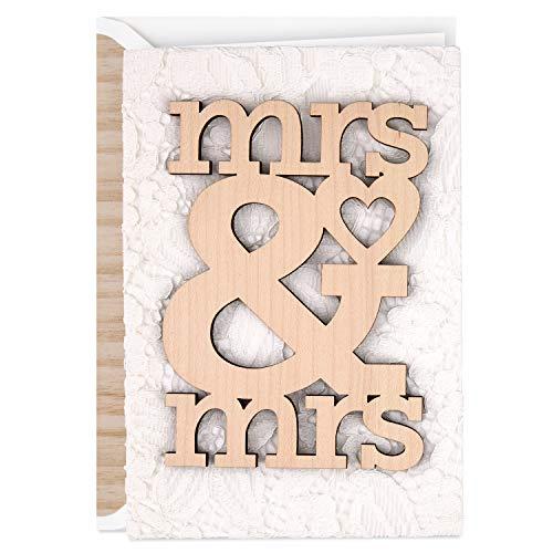 Hallmark Signature Wedding Card for Lesbian Couple, Wood...