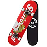 Pro Skateboards 31' X 8' Standard Skateboards Cruiser Complete Canadian Maple 8 Layers Double Kick Concave Skate Boards