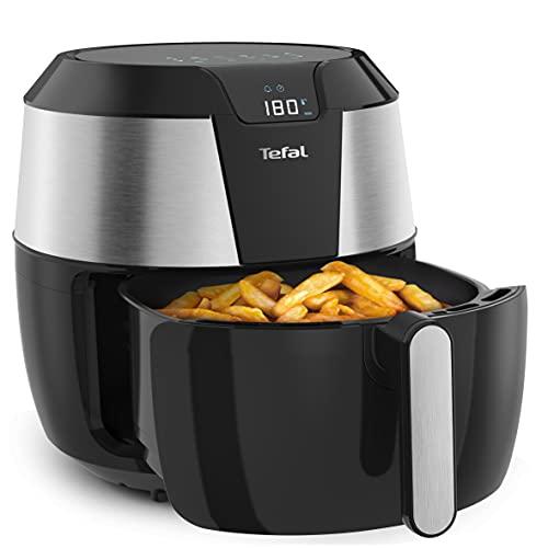 Tefal EY701D Easy Fry XXL Heißluftfritteuse | 1700 Watt | Fassungsvermögen: 1,6 kg | Timer | 8 automatische Menüs | Schwarz/Edelstahl