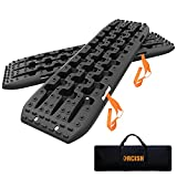 ORCISH Recovery Traction Boards Tracks Tire Ladder for Sand Snow Mud 4WD(Set of 2) (Bag, Black)