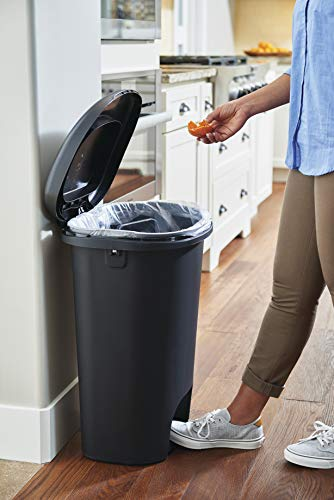 Product Image 2: Rubbermaid Step-On Lid Trash Can for Home, Kitchen, and Bathroom Garbage, 13 Gallon, Black