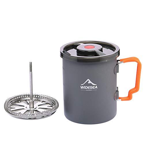 Widesea Camping Kaffeebereiter mit French Press Kaffeekanne 900 ml