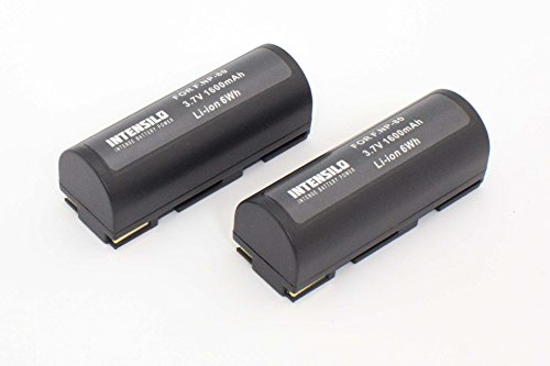 INTENSILO 2 x Li-Ion Batteria 1600mAh (3.7V) per Fotocamera Videocamera Fuji/Fujifilm FinePix 6800 Zoom, 6900 Zoom sostituisce NP-80, Klic-3000.