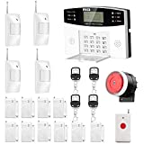 AGSHOME Security Alarm System 99+8 Zone Auto Dial GSM SMS Home Burglar Security Wireless GSM Alarm System Detector Sensor Kit Remote Control