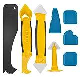 8 pièces outils de calfeutrage en silicone, outil de retrait de joints avec...