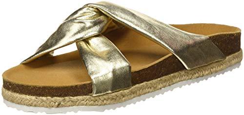 PAEZ Sandal Knot Gold, Sandalias con Punta Abierta Mujer, Dorado (Dorado 105), 39 EU