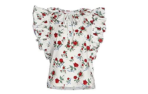 41GzEXea4ZL. SL500 Cotton Flutter Sleeve Floral Print