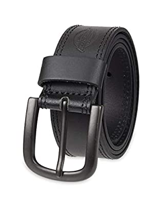 GENUINE COWHIDE LEATHER: Dickies Casual Belt is crafted from 100% Genuine Leather. It is the best in class leather belt you need to elevate your outfit. It also features a single-prong buckle in metallic finish. For best care, spot clean only STYLE: ...