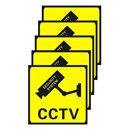 10 piezas de pegatinas de CCTV a prueba de agua, videovigilancia, videovigilancia, área de advertencia, señal