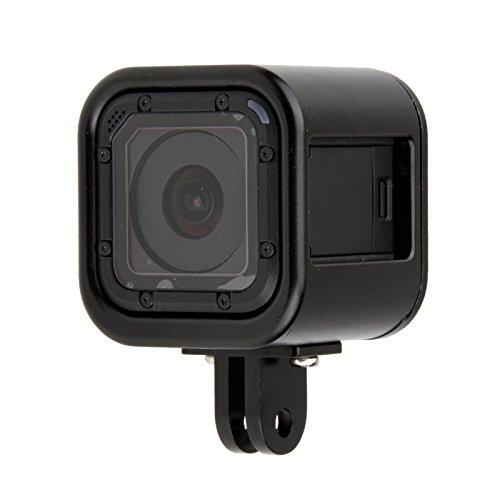 SODIAL Telaio di protezione custodia in lega di alluminio Telaio per videocamera GoPro Hero 4/5 Session Go Pro Sport Accessori fotocamera nera