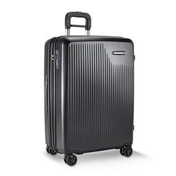 Briggs & Riley Sympatico-Hardside CX Expandable Medium Checked Spinner Luggage, Black, 27-Inch