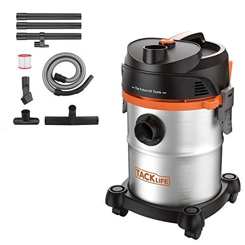 TACKLIFE Aspiratore Solidi-Liquidi 1200W 20L 3 in 1 Multifunzioni Aspirapolvere, Grande Capacit Aspiracenere, Aspiraliquidi, soffiatore in Acciaio Inossidabile Tubo Flessibile da 6HP, PVC05B