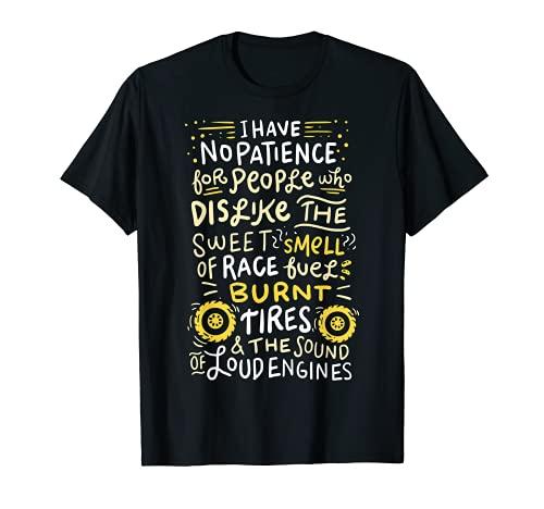 COURSE DE DRAGUE : L'odeur de la course Pneus brûlés T-Shirt