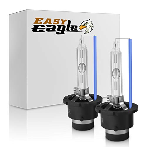 Easy Eagle 35W D2S/D2C 8000K Xenon HID Headlight Replacement Bulbs with Metal Stents Base (Pack of 2)