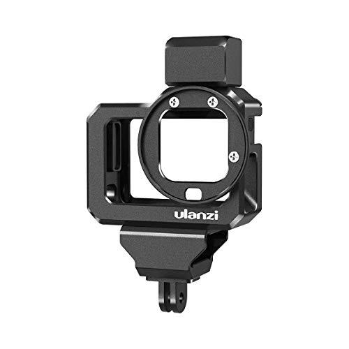 Linghuang Alluminio Video Custodia Gabbie per GoPro 8, Doppio Cold Shoe Supporto Vlog Case Rigido Protezione con 52 mm Filtro Adattatore Interfaccia di Ricarica per GoPro Hero 8 Black