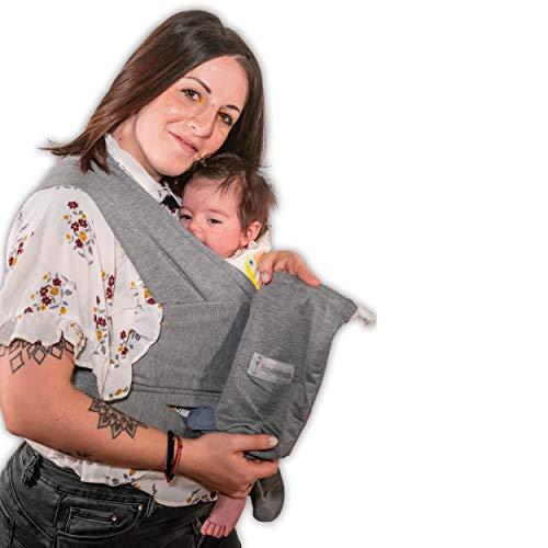 Fascia Porta Bebè BabyWellness Certificata UE | 95% Cotone BIOLOGICO | Marsupio Ergonomico Per...