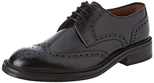 Lottusse L6724, Zapatos de Cordones Brogue Hombre, Negro (Jocker P. Negro), 41 EU