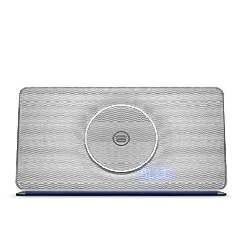 Bayan Soundbook X3 (silber) tragbarer Bluetooth-Speaker mit integriertem UKW-Radio und NFC Verbindung
