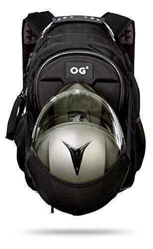 OG Online&Go CityRunner Sac à Dos Moto, Étanche, Extensible 30-35L, Sac Porte-Casques Motard, Sangle pour Casque, Grande Capacité, Portable, Réfléchissant, USB