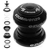Venzo 1-1/8' Threadless Mountain Bike MTB Headset Sealed Bearings Black