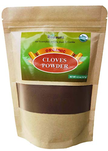 Heawans Organic premium grade cloves powder (resealable pouch) (4.5 oz)