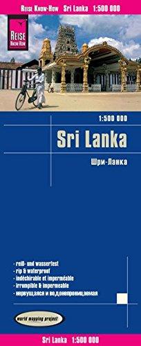 Sri Lanka, mapa de carreteras impermeable. Escala 1:500.000. Reise Know-How.: worldmappingproject