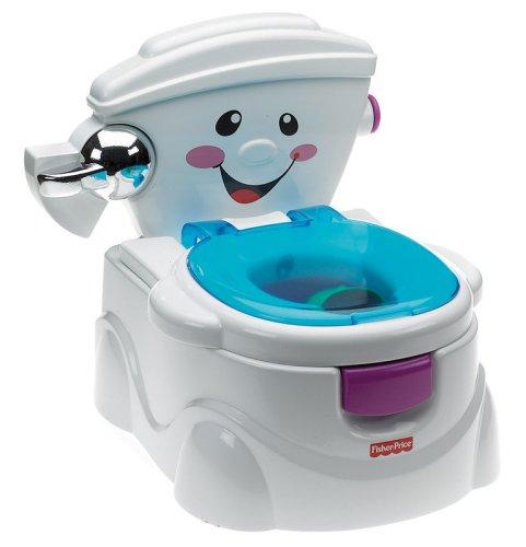 Fisher-Price Cheer for Me potje | Met afsluitbaar deksel, spoelknop en toiletrolhouder | Met geluiden en muziek | Kan op het echte toilet aangepast worden