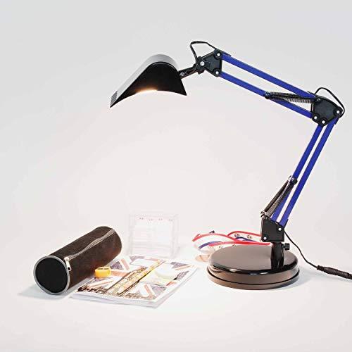 Bagger Schreibtischlampe Kinder Blau Schwarz Metall 400lm beweglich Tischleuchte LED Kinderzimmer