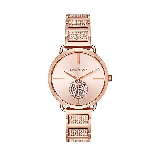 Michael Kors Portia Schweizer Quarz Gold Edelstahl Damen-Armbanduhr MK3853