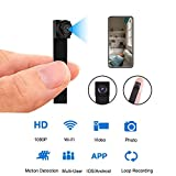 Mini WiFi DIY Spy Camera 1080P Wireless Hidden Camera Small Nanny Cam with Motion Detection Home Security Recording Remote View Indoor Outdoor Using