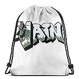 NotApplicable Drawstring Backpack Maine License Plate Grafi (por Grafi Muscle) Mochila con Cordón, Regalos, Deportes Navideños, Bolsas De Cincha, Ligeras, De Viaje, Duraderas, Informales, para H