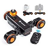 TARION Y5D Autodolly Electric Slider Motorized Pulley Car Cine Dollies Rolling Skater with Wireless Remote for DLSR Camera Video Camcorder Smart Phone