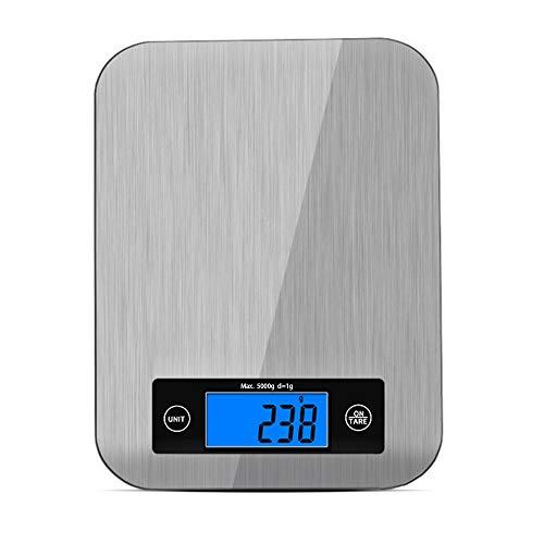 Bilancia da Cucina Digitale, Bilancia da Cucina Elettronica in Acciaio Inox da 5kg con Gancio,...