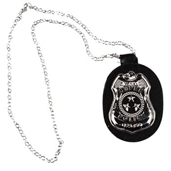 Ruluti Badge Pendentif Collier en Cuir Choker pour Les Fournitures Halloween Cosplay Accessoires