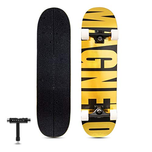 Magneto SUV Skateboards | Fully Assembled Complete 31' x 8.5' Standard Size | 7 Layer Canadian Maple...
