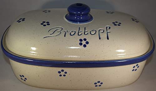 Brottopf Avena | Brotkasten | Brotbox | Brotdose | Brotbehälter | Steinzeug | LxBxH: 30x21x16 cm