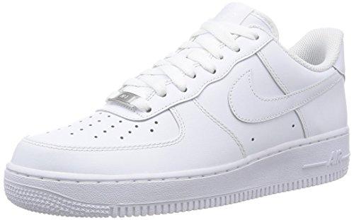 Nike Air Force 1 '07, Scarpe da Ginnastica Uomo, Bianco (White/White 111), 42 EU