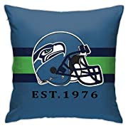 EXQUISITE DESIGN: This pillowcase is designed by our designers for football fans, Made of plush fabric.The texture is soft and comfortable.Seattle Seahawks pillowcases to refresh your home.It's a perfect furniture staple. HIGH QUALITY: Delicate edgin...