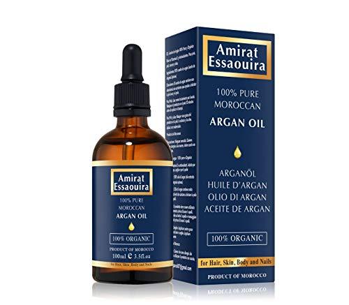 OLIO DI ARGAN PURO al 100% per Capelli, viso, corpo, pelle e unghie - Ricco di vitamina E e antiossidanti 100ml.